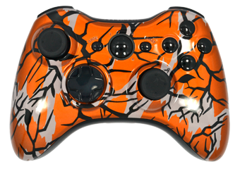 Orange Modded Xbox 360 Controller