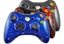 Hydro Dipped Xbox 360 Modded Controllers