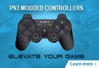 Chrome PS3 Modded Controllers