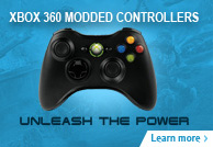Chrome Xbox 360 Modded Controllers