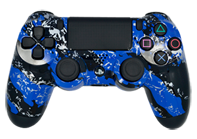 Blue Splatter PS4 Modded Rapid Fire Controller