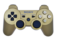 Bullet Buttons PS3 Gold Modded Controller
