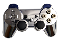 Bullet Buttons Chrome PS3
