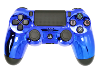 Chrome Blue PS4 Modded Rapid Fire Controller