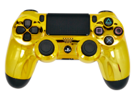 Chrome Gold PS4 Modded Rapid Fire Controller