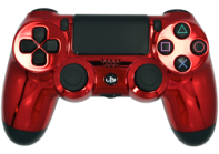 Chrome Red PS4 Modded Rapid Fire Controller