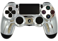 Chrome Silver PS4 Modded Rapid Fire Controller