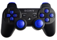 PS3 Black with Blue Buttons
