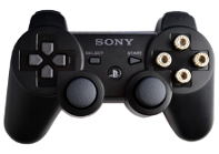 PS3 Black with Chrome Bullet Buttons