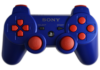 PS3 Blue with Red Buttons