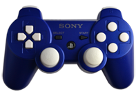 PS3 Blue with White Buttons