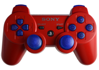 PS3 Red with Blue Buttons