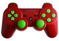 PS3 Red with Lime Buttons