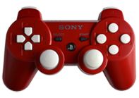 PS3 Red with White Buttons