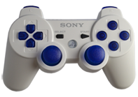 PS3 White with Blue Buttons