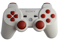 PS3 White with Red Buttons