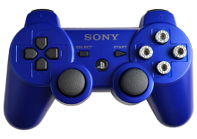 PS3 Blue with Chrome Bullet Buttons