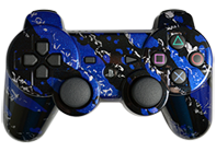 PS3 Blue Splatter