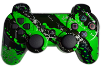 PS3 Green Splatter