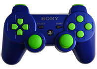 PS3 Blue with Lime Buttons