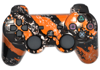 PS3 Orange Splatter