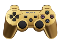 PS3 Gold Modded Controller