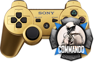 PS3 Gold Black Ops 2 Compatible Modded Controller