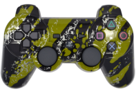 PS3 Green Splatter Modded Controller