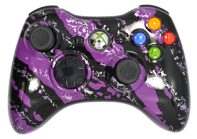 Purple Splatter Xbox 360