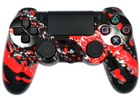 Red Splatter PS4 Modded Rapid Fire Controller
