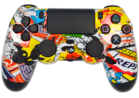 Sticker Bomb PS4 Modded Rapid Fire Controller