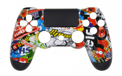 Hydro Dipped - Sticker Bomb - Controller For PS4