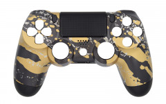 Hydro Dipped - Gold Splatter - Controller For PS4