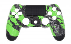 Hydro Dipped - Green Splatter - Controller For PS4