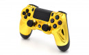 PS4 Chrome Gold Custom Modded Controller Small
