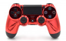 PS4 Pro Chrome Red Custom Modded Controller Small