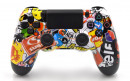 PS4 Pro Sticker Bomb Custom Modded Controller Small
