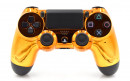 PS4 Pro Chrome Orange Custom Modded Controller Small