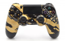 PS4 Gold Splatter Custom Modded Controller Small