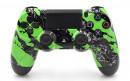 PS4 Pro Green Splatter Custom Modded Controller Small