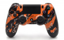 PS4 Pro Orange Splatter Custom Modded Controller Small