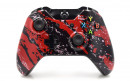 Xbox One Red Splatter Custom Modded Controller Small