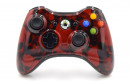 Xbox 360 Red Skulls Custom Modded Controller Small