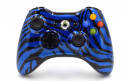 Xbox 360 Blue Zebra Custom Modded Controller Small