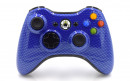 Xbox 360 Blue Carbon Fiber Custom Modded Controller Small