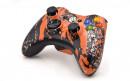 Xbox 360 Orange Splatter Custom Modded Controller Small