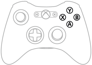 ABXY Buttons Xbox 360
