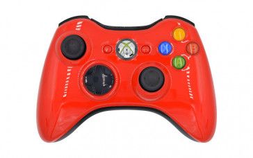Xbox 360 Glossy Red Custom Modded Controller