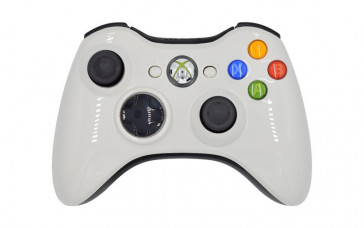 Xbox 360 Glossy White Custom Modded Controller