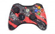 Xbox 360 Red Splatter Custom Modded Controller